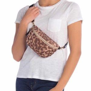 NWT Kate Spade Leopard Nylon Belt Bag / Fanny Pack